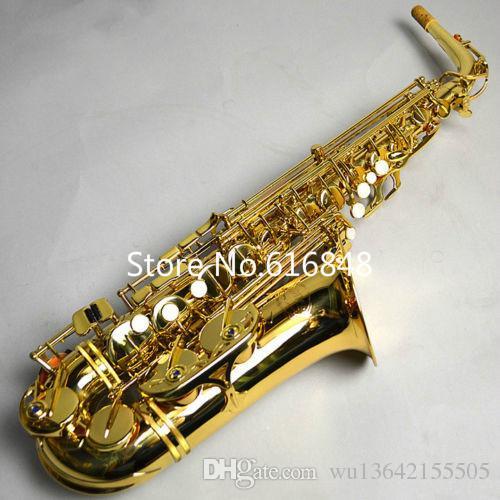 Nova JUPITER JAS-769 Alta Qualidade Eb Tune Instrumento Musical Saxofone Alto Sax Laca De Ouro De Bronze Com Caso Frete Grátis