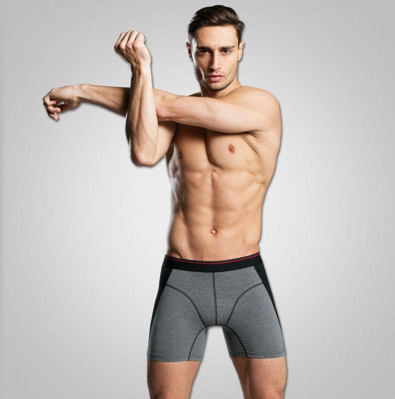 Yeni Erkek İç Giyim Boksörler Uzun Bacak Kısa Boxer Homme Külot Calzoncillos erkek Boxershorts Adam Heren Ondergoed