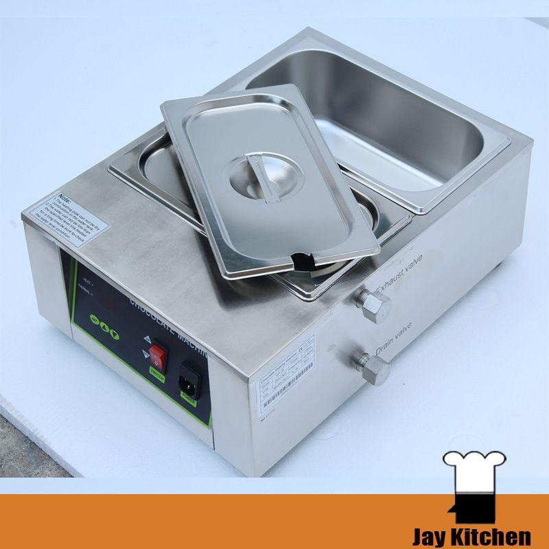 Çift tank çikolata eritme makinesi elektrikli ısıtma çikolata eritme pot paslanmaz çelik ticari çikolata makinesi ce ile