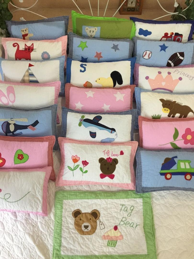 Novo! Todo o algodão mão pano bordado fronha de mão das crianças, fronha do bebê do jardim de infância, 30 * 50 cm Fronha