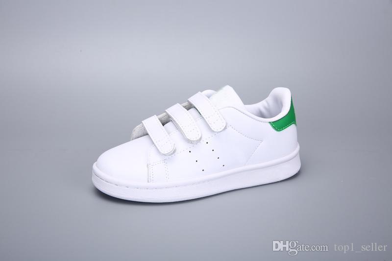 2020 chaussures de course stan smith patin enfants garçon jeune fille enfant le sport Sneaker taille 24-35
