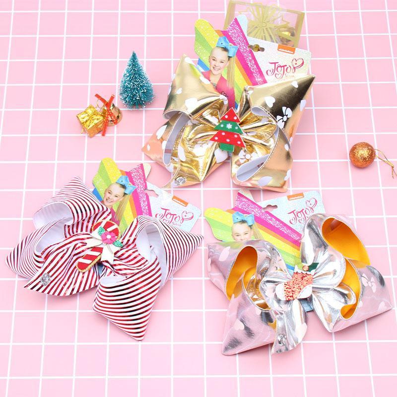 Clips 10styles JOJO los arcos del pelo del Bowknot de Navidad Barrette Bebés y Niños Boutique Pin grande horquilla arco pelo de las muchachas Accesorios GGA2925-1