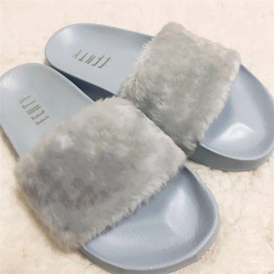Ladies Fur Mule chinelos de couro liso Suede Shoes Flower Cobra mula Moda Chinelos Outdoor outono e inverno sapatos VV5 # 869