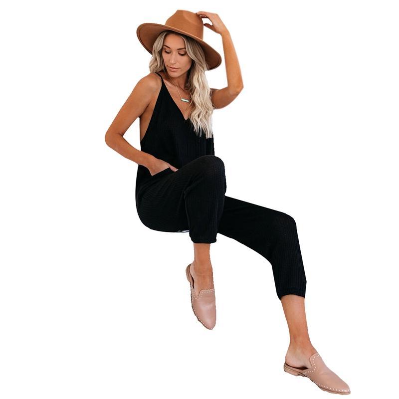 여성용 jumpsuits rompers 유럽과 아메리카 여름 여성 한 - 피크스 바지 섹시한 슬링 jumpsuit 캐주얼 패션