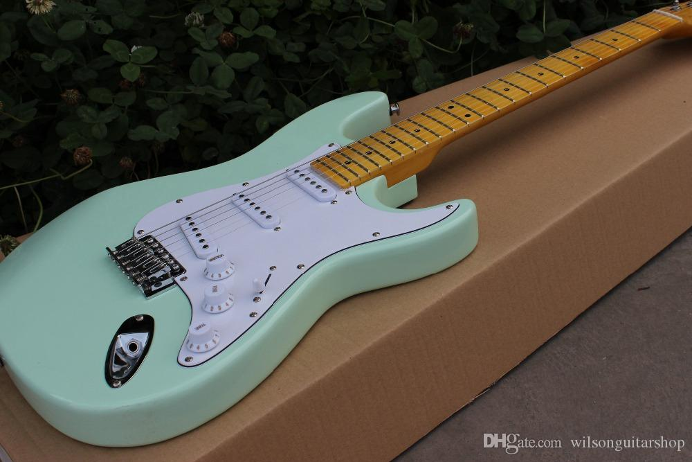 Özel dükkan, ST elektro gitar, el işi 6 Yaylı Maple klavye gitaar. gerçek fotoğraflar