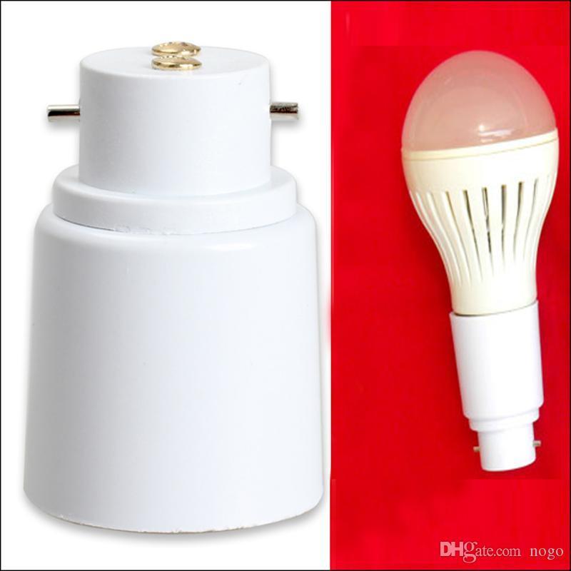 B22 to E27 LED Halogen CFL Light Base Bulb Lamp Adapter Converter Socket