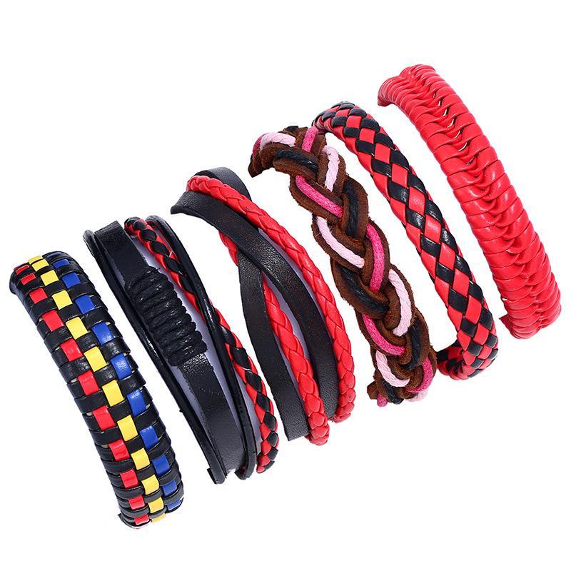 Braided Leather Bracelets for Men Women Woven Cuff Bracelet Adjustable