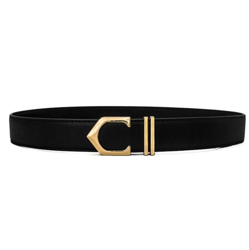 Fashion Designer Ceinture pour hommes élégante ceinture des lettres d'affaires Casual Man C lisse boucle de ceinture de luxe Ceintures Largeur de 3,4 cm de haute qualité 3 couleurs