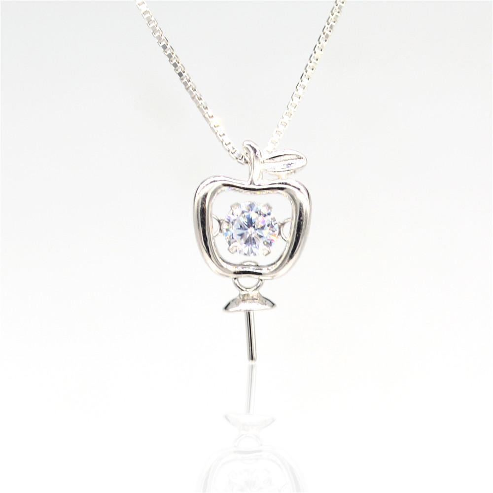 S925 стерлингового серебра подвеска крепления смарт apple Pearl подвески фитинг крепления для ювелирных изделий ожерелье DIY кулон аксессуар бесплатная доставка