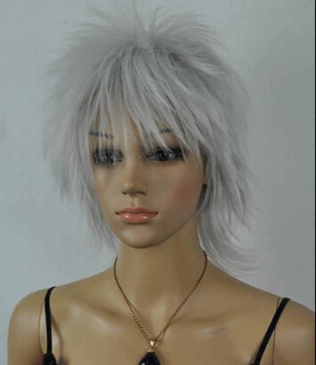 Perruque 1109 +++ VOCALOID-KAOTO Survêtement de soirée gris court Cosplay Halloween perruque
