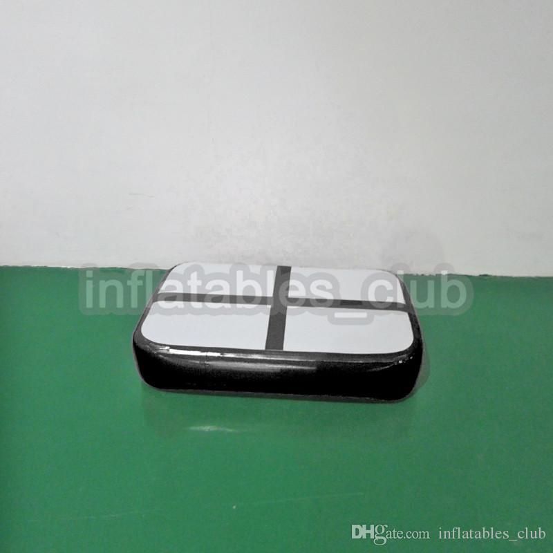 أسود اللون tumbing mat airtrack شحن مجاني 1 متر * 0.6 متر * 0.1 متر رياضة حصيرة نفخ الجمباز تعثر المسار الهواء كتلة الهواء مجلس