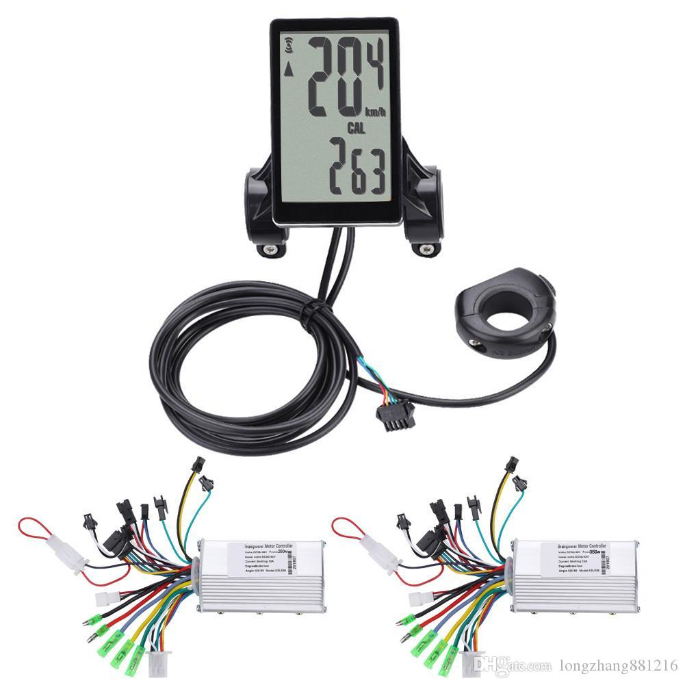 36V-48V Waterproof LCD Display Panel Electric Bicycle Scooter Controller Kit US
