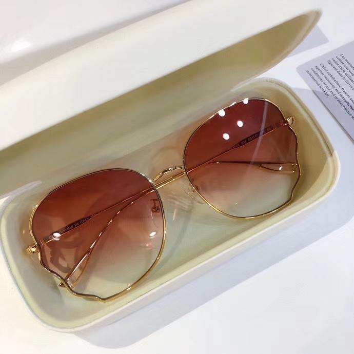 Suela gafas de sol tonos oro rosa sombreado con CE113S Gafas de sol Occhiali New Da Women Fashion 60mm Box IUFVX