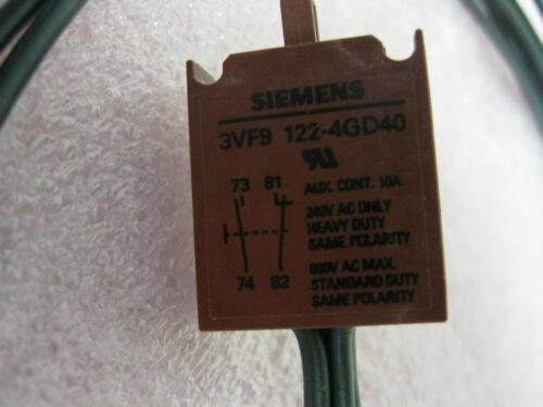 SIEMENS 3VF9122-4GD40 DE CONTROL SWITCH-NUEVO