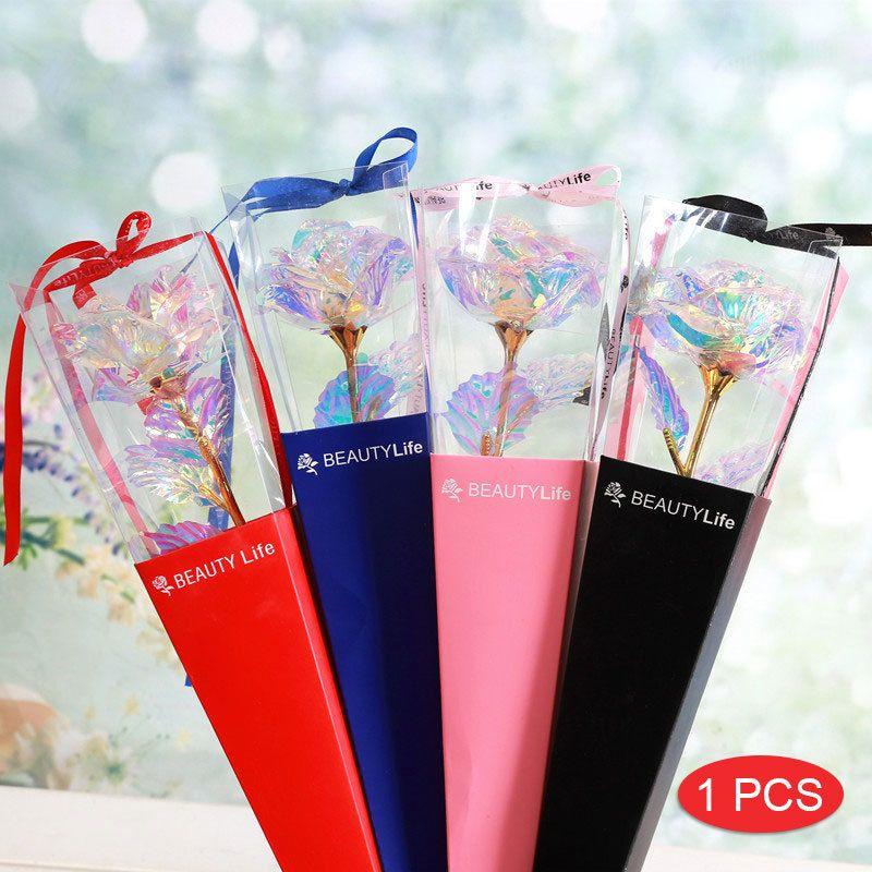 24 K Renk Altın Gül Simüle Çiçek Ebedi Çiçek Sevgiliniz için Düğün Parti Yıldönümü Valentine'S Günü Romantik Presents