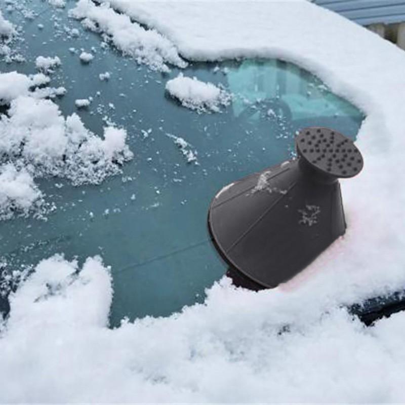 Açık Buz Kürek Koni Huni Kar Temizleme Aracı Programı Araba Cam Kar Küreği Araba Kazıyıcı Buz Kazıyıcı