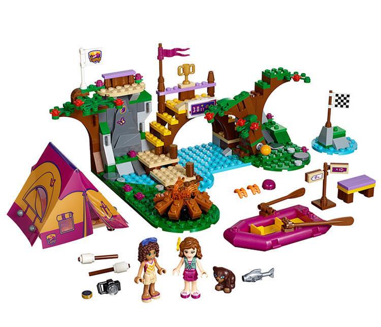 Vet Clínica 203pcs Amigos Series Set Emma Stephanie Mia Olivia Andrea Building Block Toy Meninas 41085 Compatível com Legoinglys