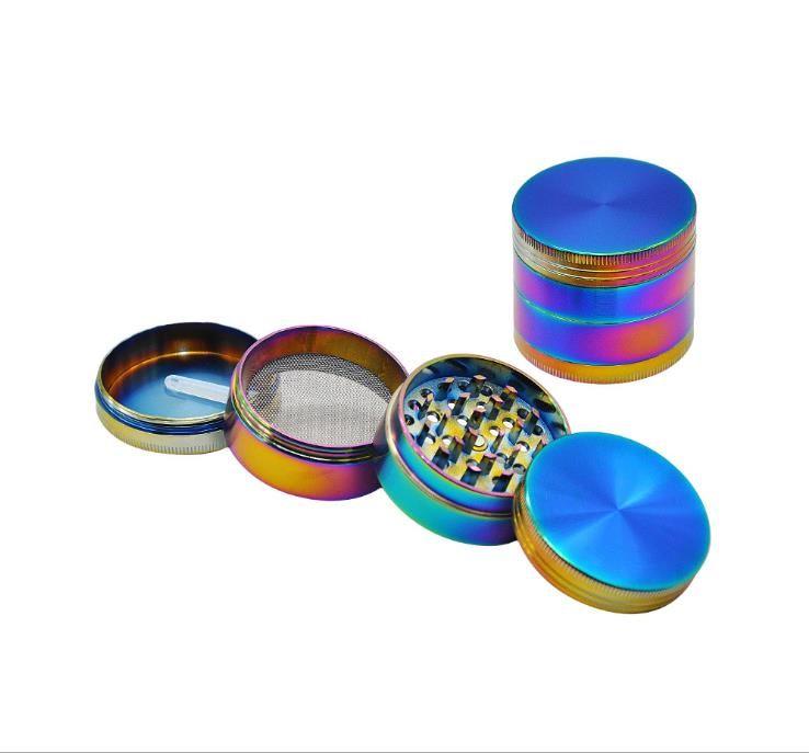 Трансграничные горячие продажи 50 мм цвет цинкового сплава дымовая дробилка металлический точильщик могут быть настроены