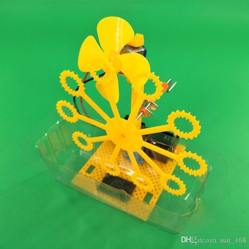 Self made bolla macchina fai da te scienza e tecnologia scienza e sperimentare materiali di produzione tecnologia giocattoli per bambini della gioventù