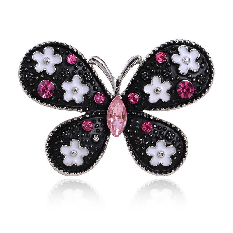 Мода дама насекомые бабочка брошь для женщин Цветочного Кристалла Rhinestone Красивых ювелирных аксессуаров Творческого ретро-Пен