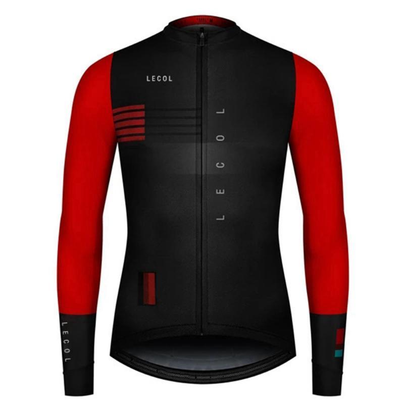 Lecol Herbst Voll Ärmeln Radtrikot Wear Maillot Ropa Ciclismo Männer Fahrrad Shirts Quick-dry Bike Jersey Sports Lange Radfahren