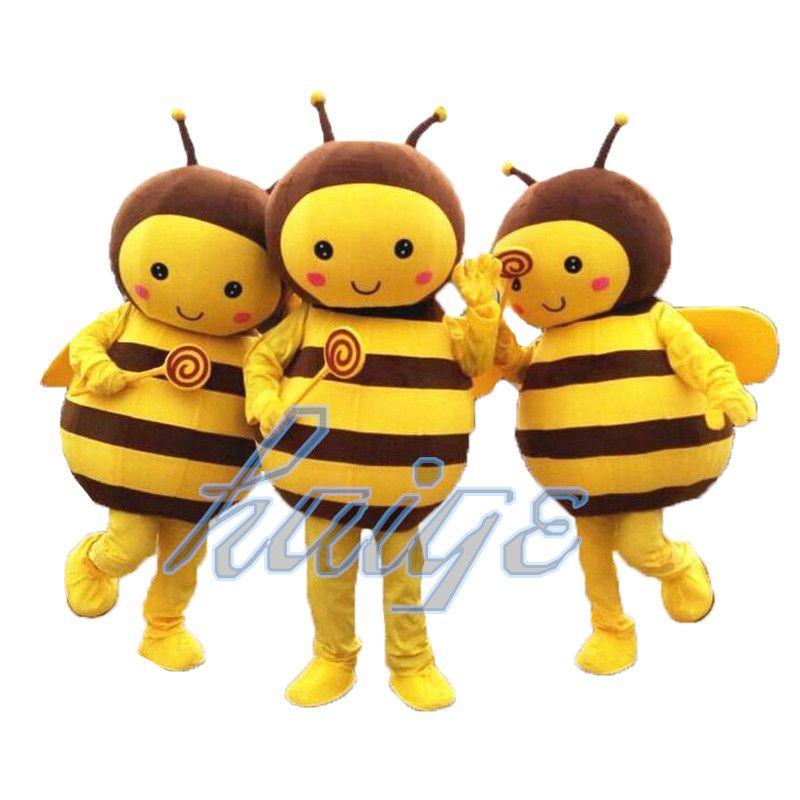 Die hohe Qualität der Biene Cartoon-Maskottchen-Kostüm Kleidung Halloween-Geburtstags-Party-Kostüm erwachsene Größe gibt Verschiffen frei