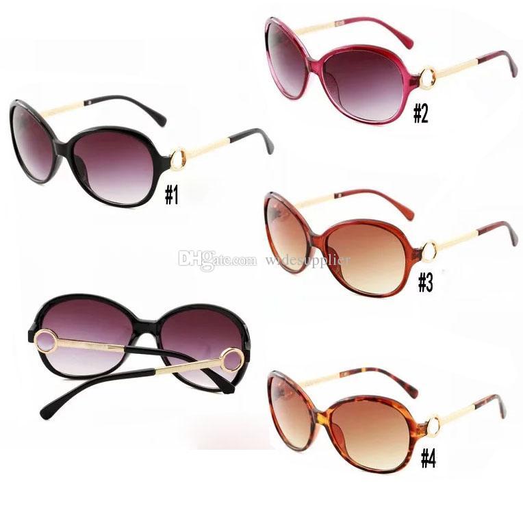 Mode Lunettes de soleil universelles Lunettes de soleil de luxe pour femmes Lunettes de soleil chaudes pour femmes Lunettes rétro 3 couleurs Jambes métalliques