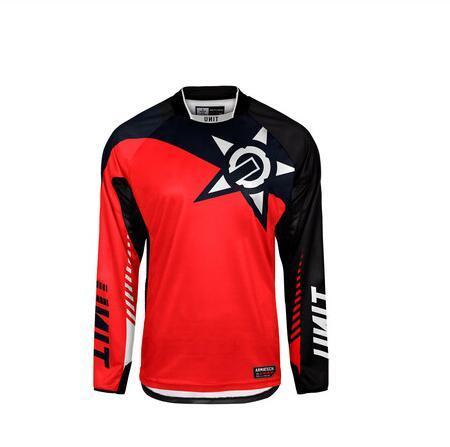 Yaz örgü nefes dağ bisikleti sürme gömlek ceket erkek motosiklet Daire uzun kollu yokuş aşağı t-shirt