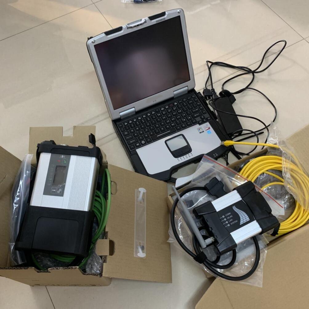 2in1 2019.12V Soft-Ware 1 To SSD pour MB Star C5 Icom Wifi suivante pour BMW Car outil de diagnostic avec écran tactile portable CF30 CF30 PC