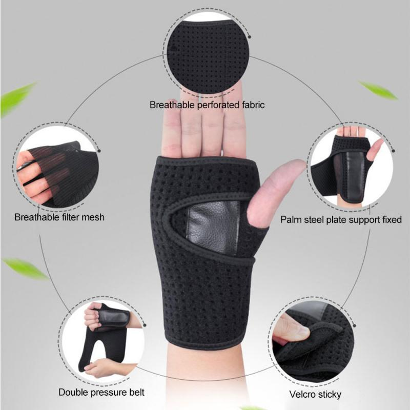 Weight Lifting Gloves Training Gym Grips Fitness Glove Crossfit Bodybuilding Gymnastics Wristbands Hand Palm Protector band