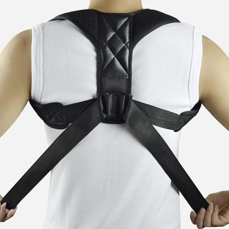 Voltar Posture Corrector Ombro Suporte Brace ajustável Belt Coluna Lombar Protective Bandage Postura Relaxamento ferramenta de massagem