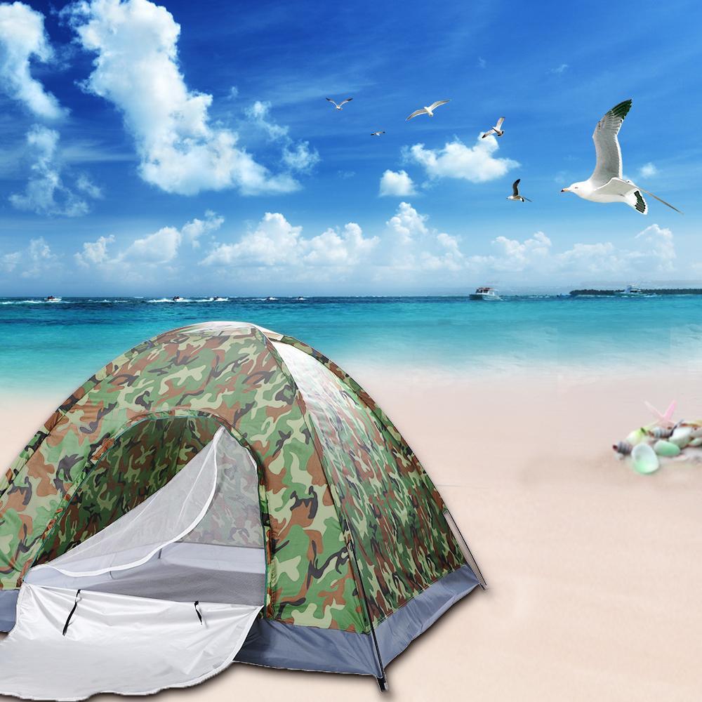 Открытый кемпинг палатка камуфляж кемпинг пляж турист Рыбалка треккинг брезент Баррака тент сверхлегкая палатка для 4 человек с сумкой для переноски