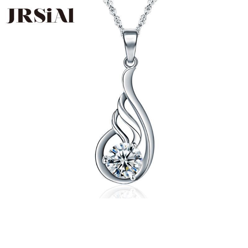 JRSIAL S925 prata incrustada de zircão de moda pingente Acessórios clássico Personalidade Clavícula JRP0049-50 Cadeia