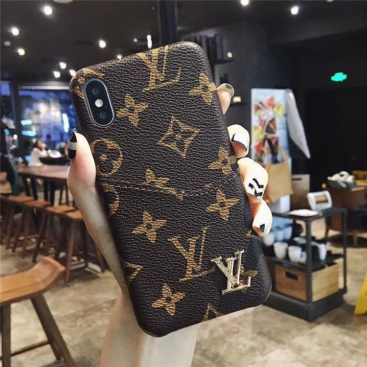 Brand Designer Phone Cases coque For iPhone 11 11pro 11promax Xr Xs MAX 6 7 8 Plus Case Famous Leather Card Pocket Phone Cases Cover Wallet