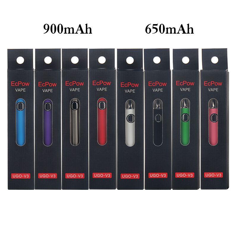 100% Original-UGO-V3 Batterie Starter Kits 510 Gewinde Vorwärmen Einstellbare Batterie Kits Vaporizer 650mAh 900mAh E CIGS Micro-USB-Ladegerät