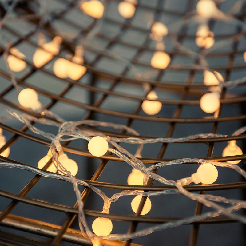 40 6M LED Weihnachtsbaum Kleine Kugel Warm-Fee-Licht führte Schnur Hochzeit Girlande für Start des neuen Jahres Weihnachtsschmuck Geschenk SH190916