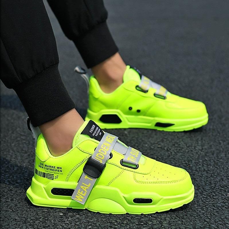 Zapatos de hombre Primavera otoño Casual PU de cuero zapatos planos con cordones Low Top blanco hombre caminar zapatillas de deporte tenis masculino adulto 45