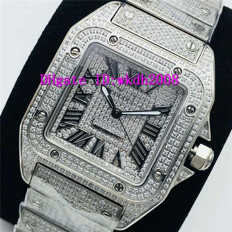 EG Top Алмазный Мужские часы ETA 2824 автоматические механические швейцарские часы 28800 VPH CNC нержавеющей стали 316L Наручные часы римские цифры Сапфир