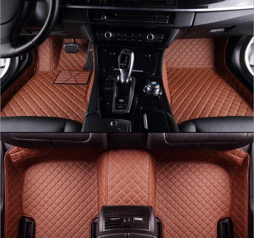 Alfa Romeo Stelvio 2017 ~ 2018 couro Car Floor Mats Mat Waterproof