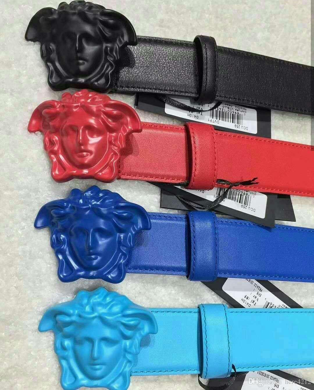 2018 New designer belts luxury belts for men big buckle belt top fashion mens leather belts wholesale free shipping