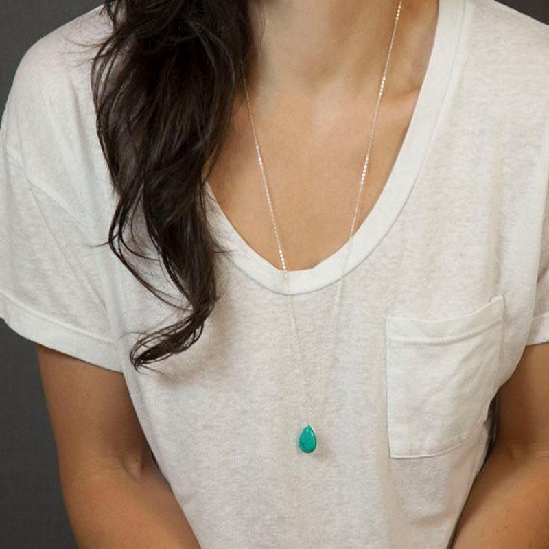 Горячие аксессуары в Европе и Америке. Кисточка длиной 70 см. Зеленый камень. Кулон с подвесками и нежные женские ожерелья.