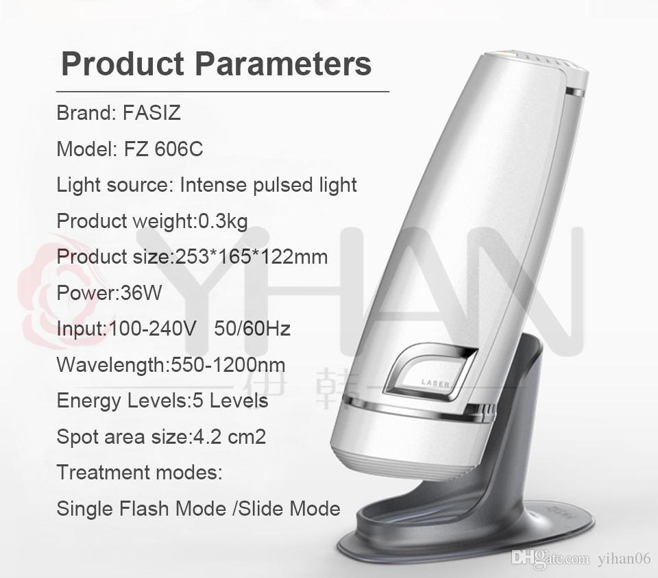 DHL free shipping Fasiz 3in1 Photoepilator IPL Depilator Female Electricepilator Permanent Painless Hair Removal Laser Epilator
