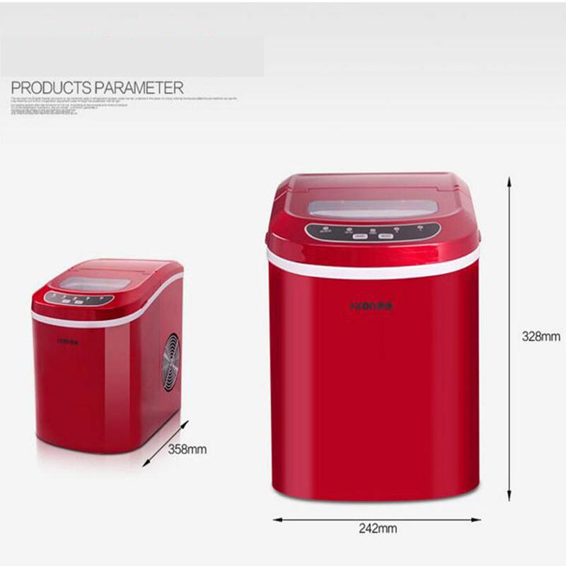 Portable Ice Maker Machine 15kg/24hCapacity Electric Ice Maker Drinks Coffee shop Home Kitchen Ice maker 8 Minutes Make complete
