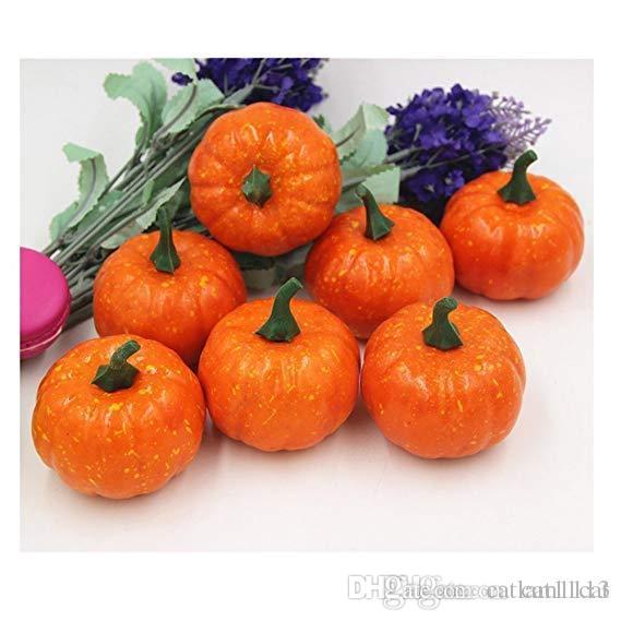Mini automne Pumpkins Set, Simulation artificielle Lifelike Décoration Faux Fruit Maison Cuisine Décor (16PCS)