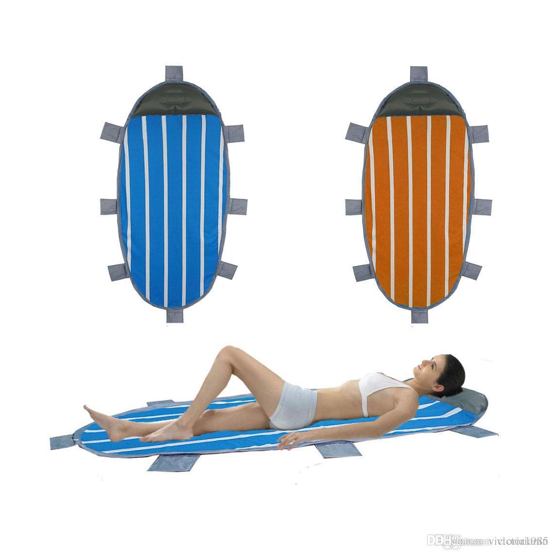 New Ultralight Inflatable Cushion Sleeping Camping Mat Air Mattress Sleeping Bed Beach Picnic Mat with Built-in Pillow