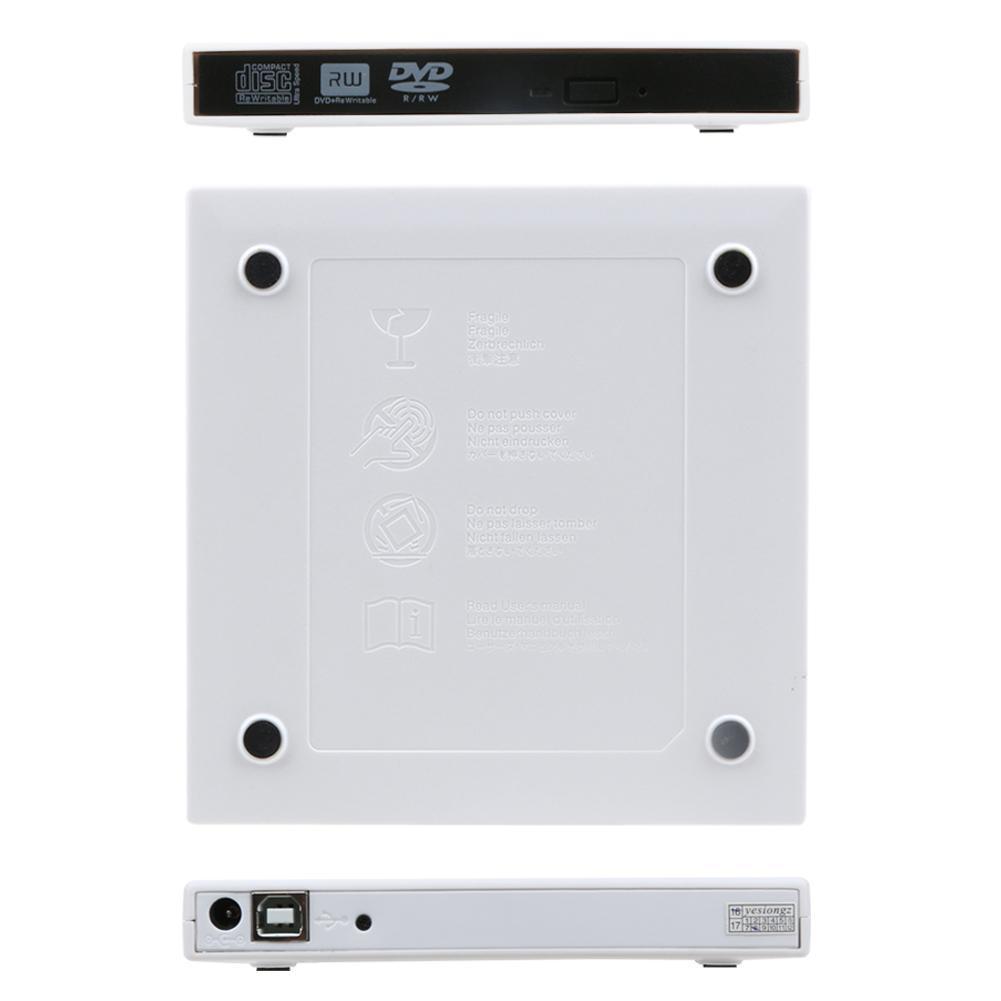 USB 2.0 External CD-RW/DVD-RW Burner Drive Recorder Optical Drive for Tablets/PC/Mac/Laptop/Notebook/Desktop External Slim Drive