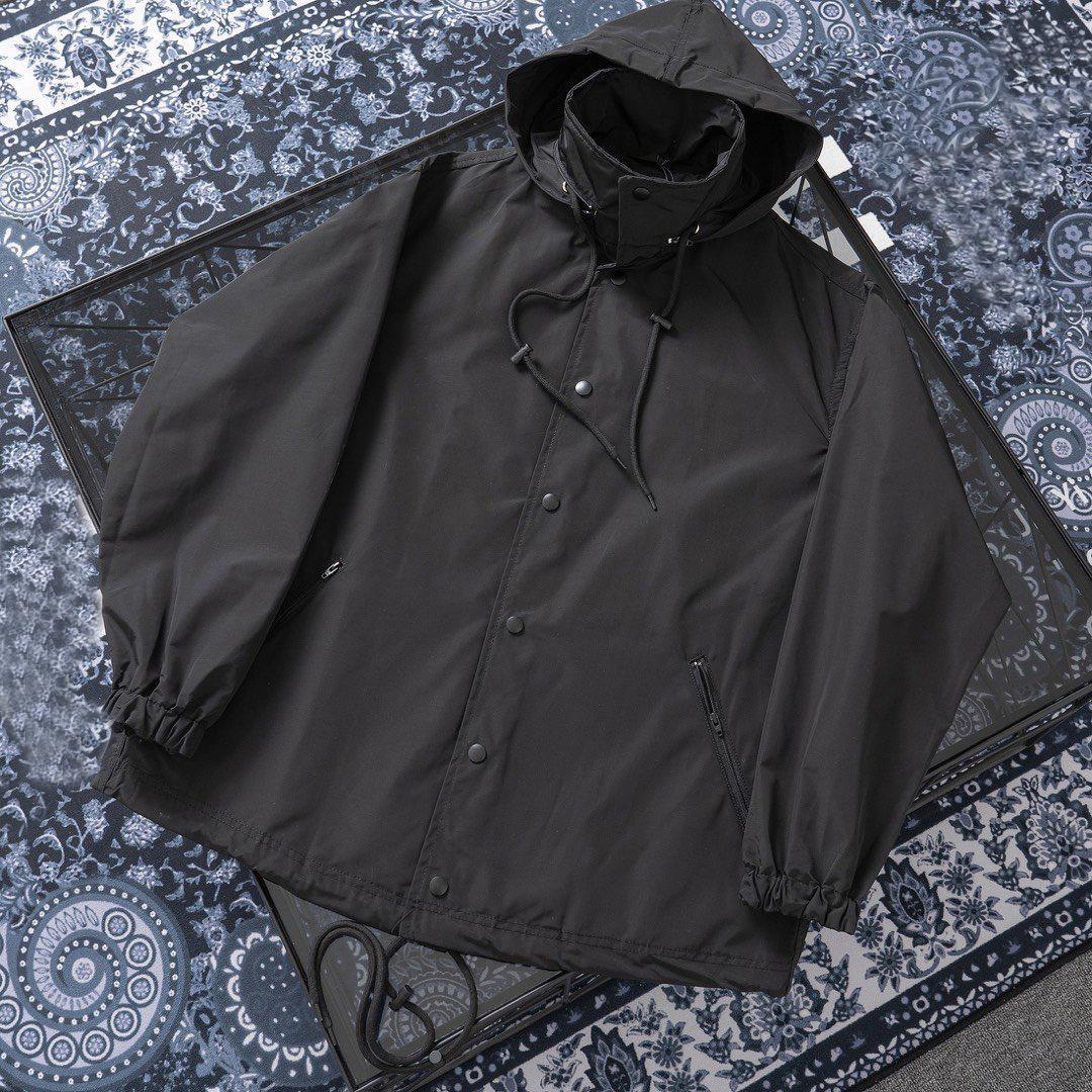 20ss Black Designer Coat Women Brand Zipper Windbreaker Designer Outdoor Jacket Sweatshirt Mens Luxury Coats Hoodies Streetwear 2042203H