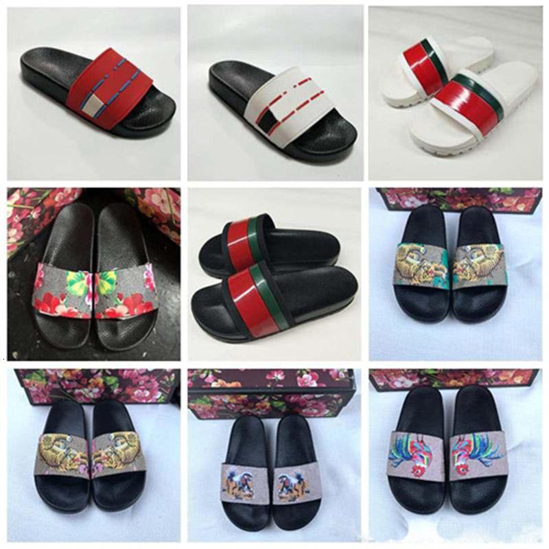 Deslize Moda Rubber Sandal Para floral das mulheres Homens de impressão lisas dos flip flops Interior Praia Chinelo Casual Tamanho 36-45