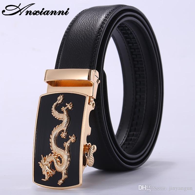 Hohe Qualität Echtes Leder-Mann-Krokodilmuster Gürtel Automatische Schliesse Armbanddrache-Designer-Marke für Männer