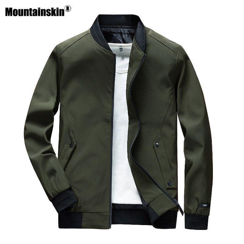 Mountainskin Herren Blousons Male Spring Fashion Street Hip Hop Coats Männer Outwear dünne dünne Jacke Marken-Kleidung